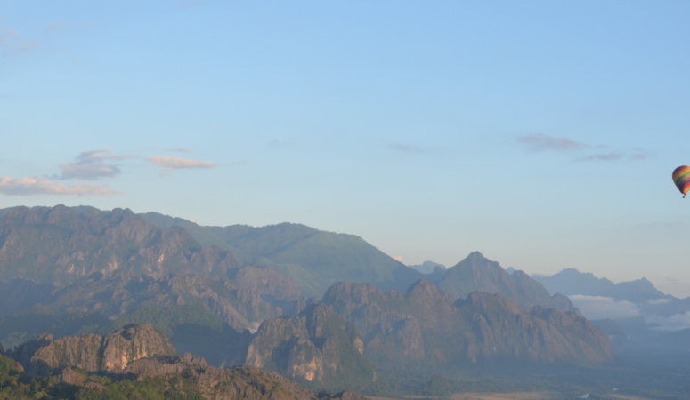 Hot Air Balloon Ride in Vang Vieng, Laos