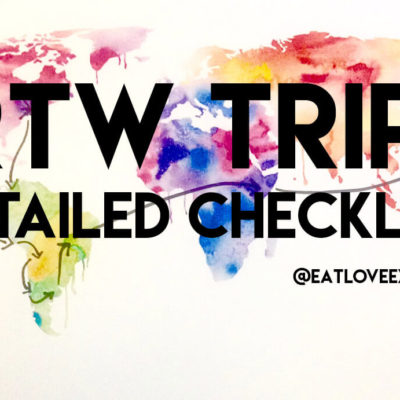 RTW Trip detailed checklist